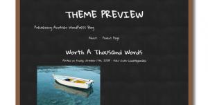 Wordpress chalkboard