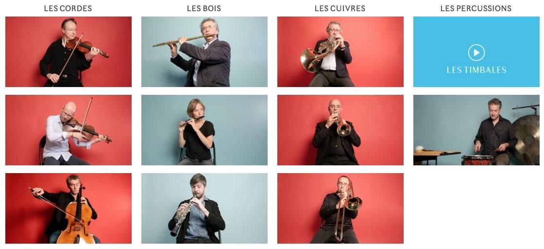 instruments orchestre de paris