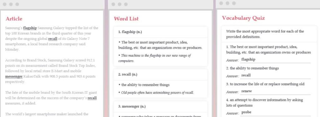 Exercices wordbooster