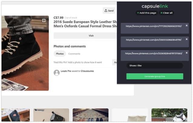 Chrome capsulelink