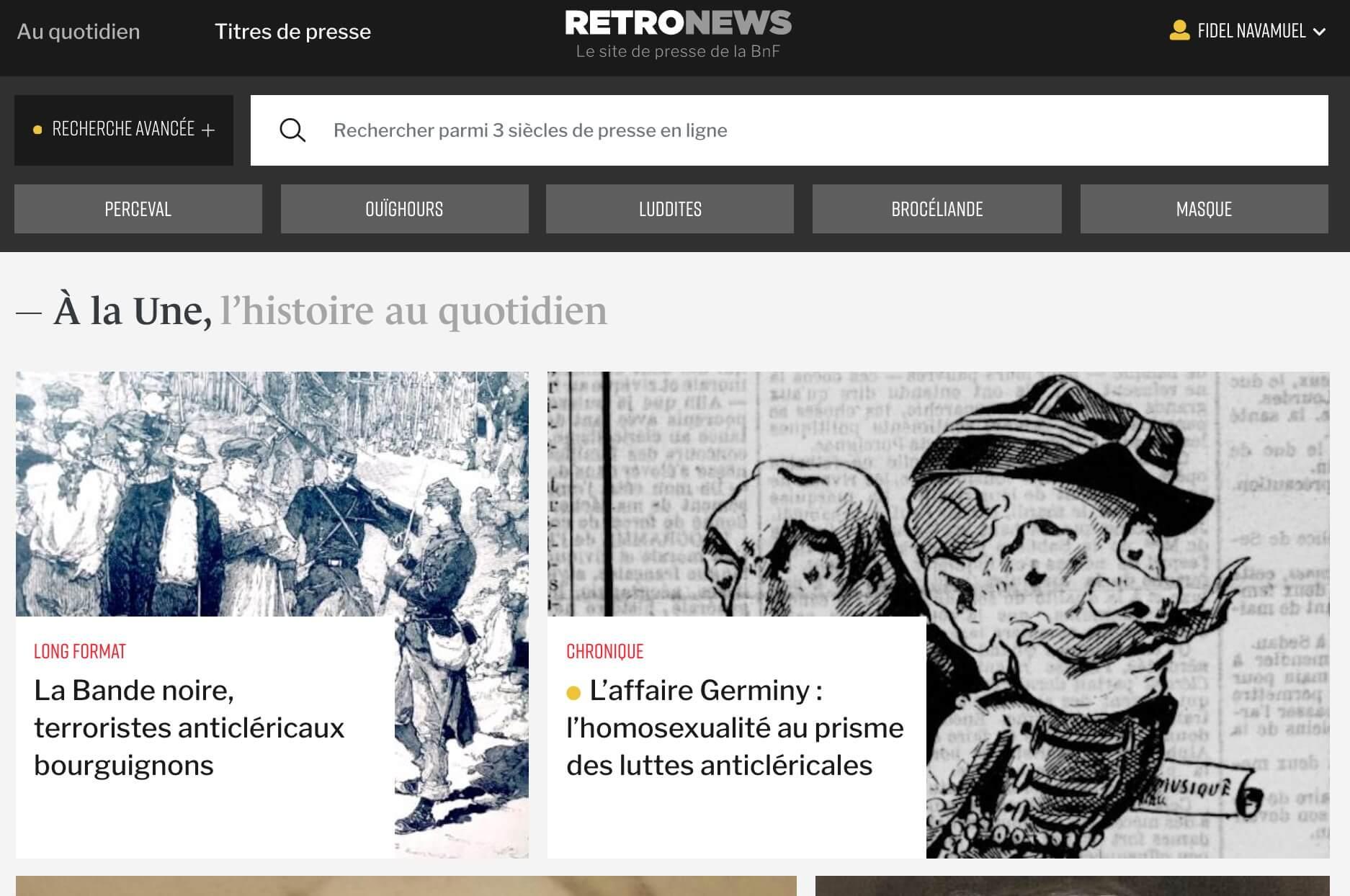 retronews archives de presse