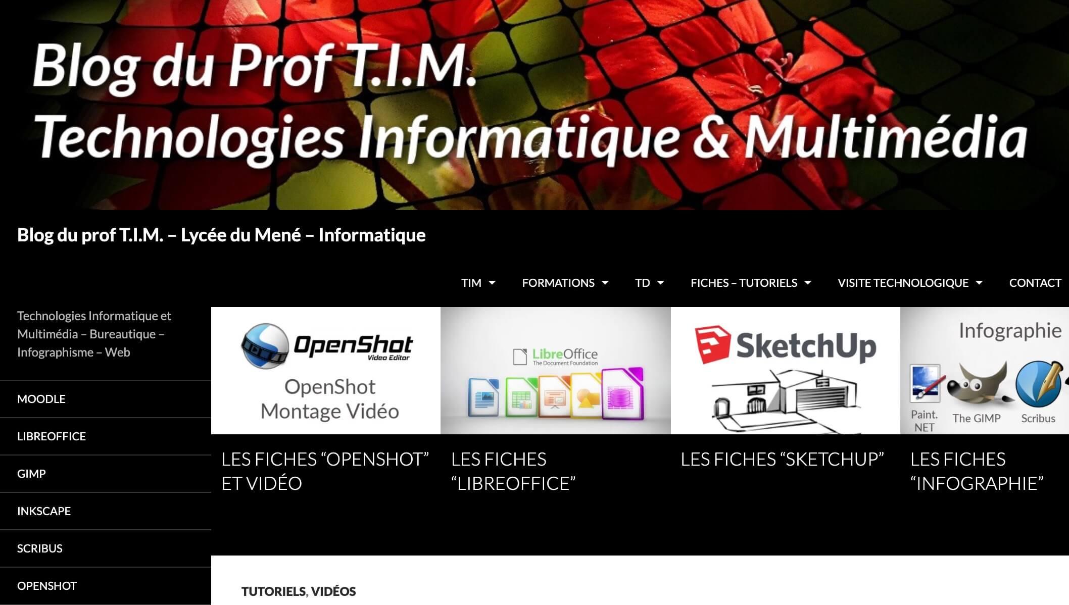 Le blog du Prof TIM