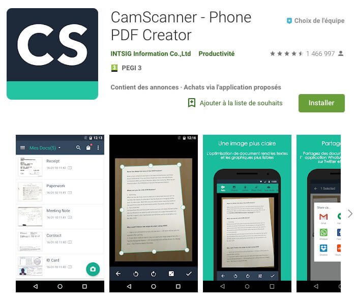 Cam scanner application