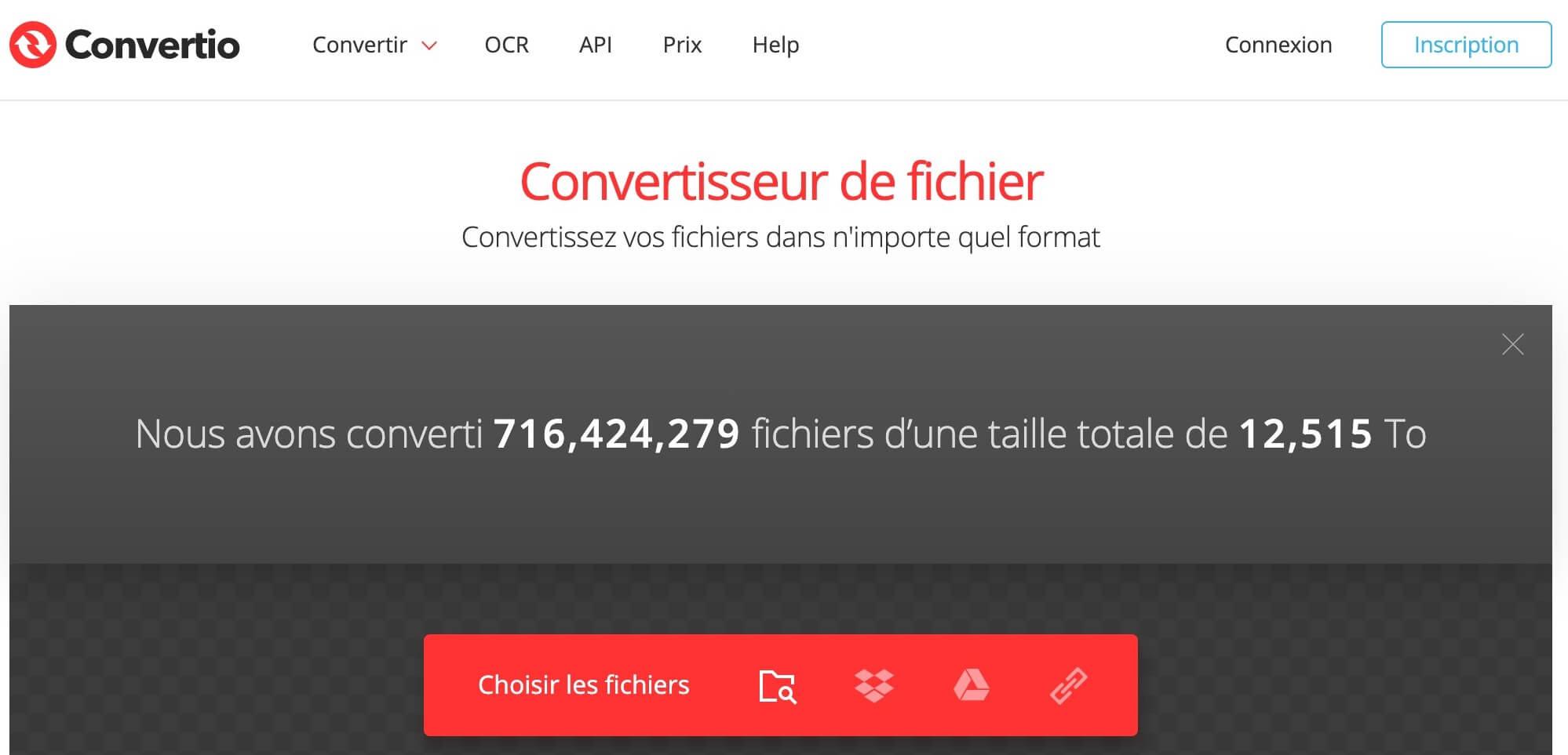 Convertir des fichiers en ligne