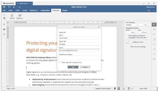 applications de bureau OnlyOffice