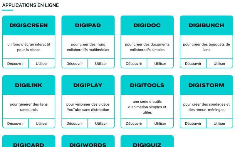 outils numériques enseignement