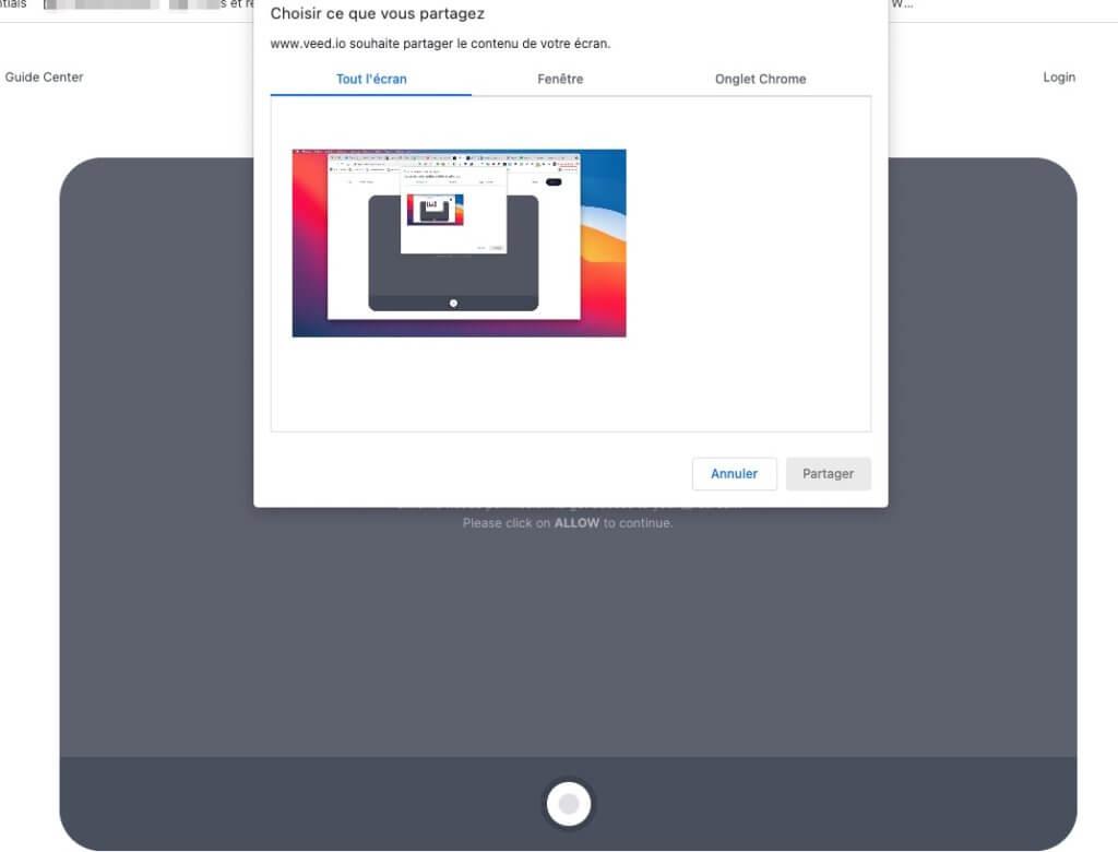 choisir enregistrer webcam