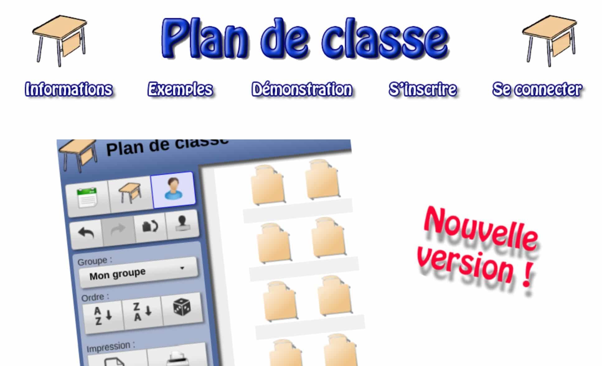 Plan de classe gratuit en ligne