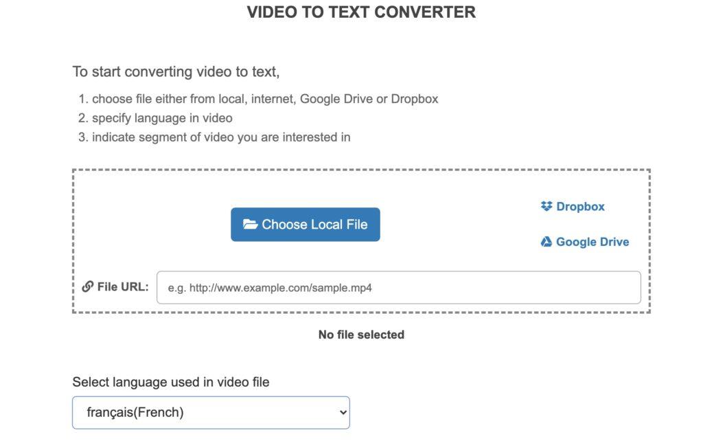 retranscrire en texte une vidéo