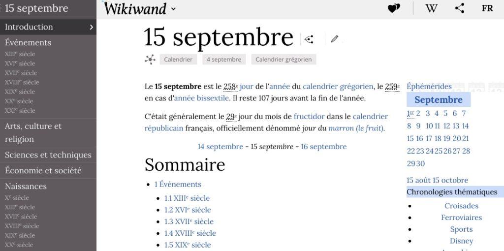 éphéméride wikipédia